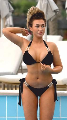 Lauren Goodger - Risque Swimsuit